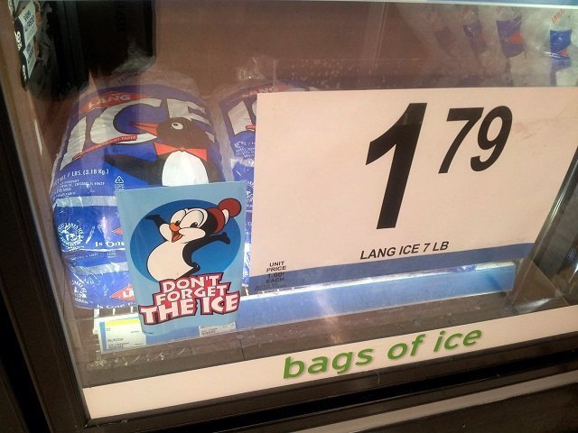 Bags of ice for the Big Game from Walgreens #CBias