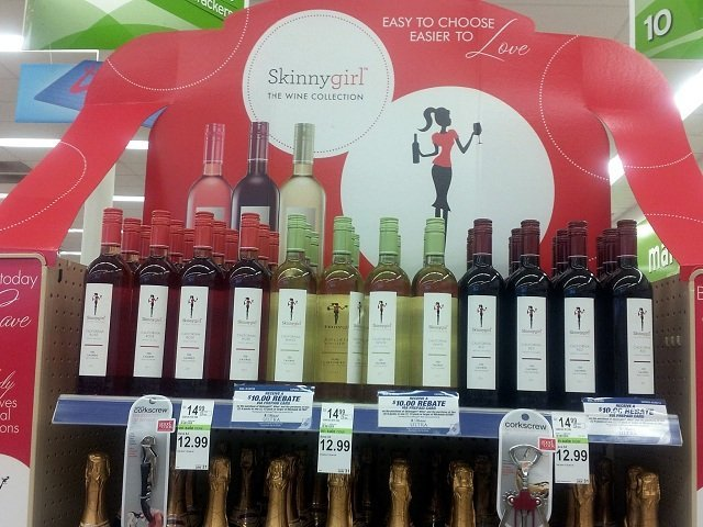 Skinny Girl wine end cap at Walgreens #CBias