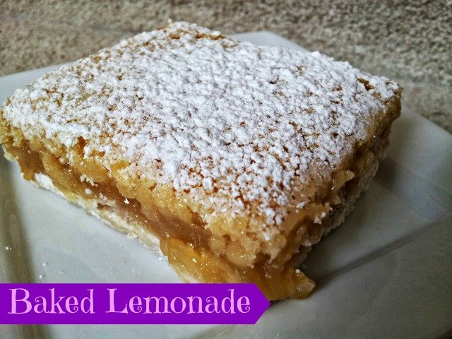 Lemon bar on a plate
