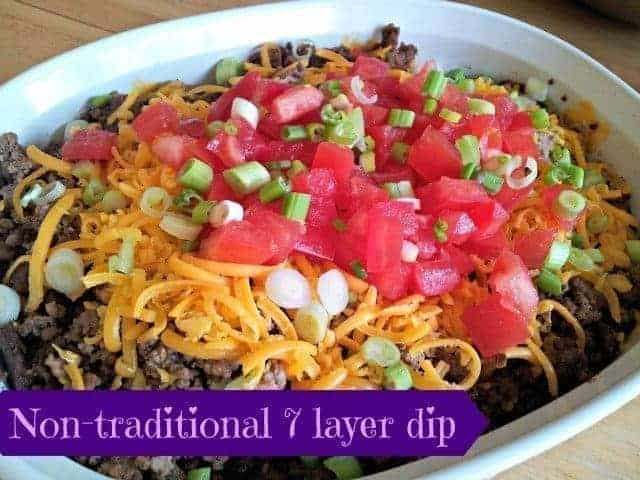 Non-traditional seven layer dip