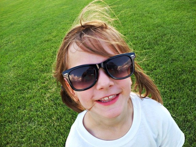 Little Miss with sunglasses