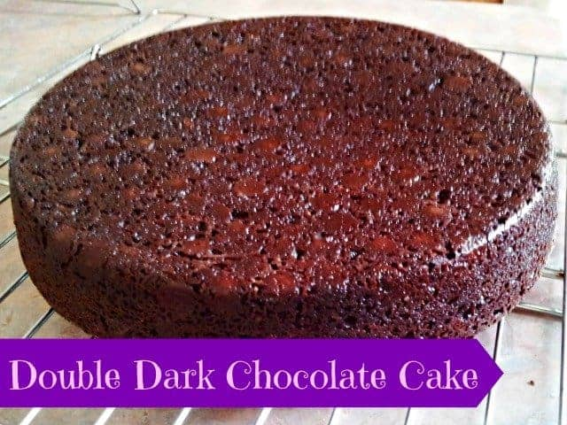 Double Dark Chocolate Cake – Tasty Tuesday! - Honest And Truly!