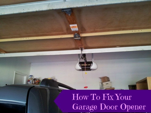 How To Reattach Your Automatic Garage Door Opener - Honest And Truly!