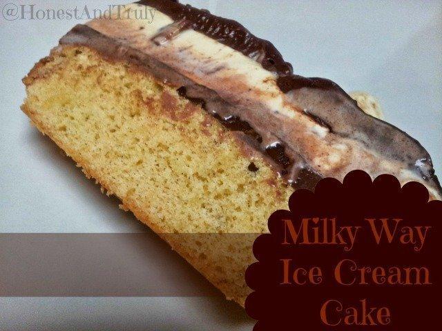 Milky Way Ice Cream Cake Recipe - Honest And Truly!