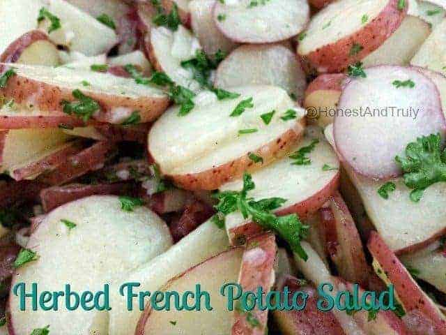 Easy recipe for herbed French potato salad with no mayonnaise - gluten ...