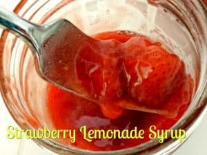 Strawberry lemonade syrup is easy to make and oh so tasty. It's a little bit of summer in a jar, ready to top pancakes, ice cream, or anything in between