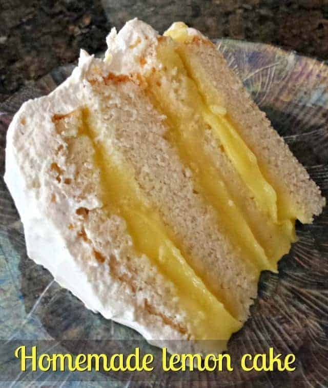 Homemade lemon filled layer cake is easy to make and incredibly delicious