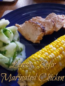 Easy lemon marinated #KefirCreations grilled chicken recipe for a healthy summer dinner #shop