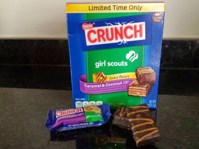 Nestle Girl Scout Crunch Candy Bars are more like wafer cookies