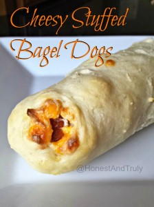 Enjoy a homemade Cheesy Stuffed Bagel Dog for dinner tonight with this easy recipe that's #PackedWithSavings #shop