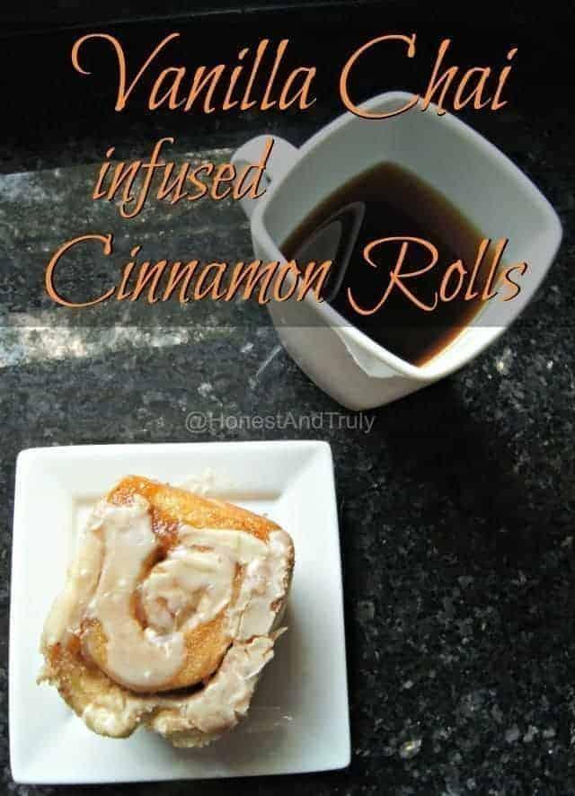 Vanilla Chai Tea Infused Cinnamon Rolls