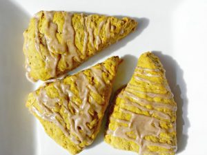 Yummy homemade healthy pumpkin scones