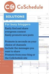 CoSchedule provides Busy Blogger Solutions to help grow and maintain your audience. They offer a two week free trial so you can check it out for yourself, with no credit card needed for that trial. Why aren't you using it? See how simple it is with this tutorial.