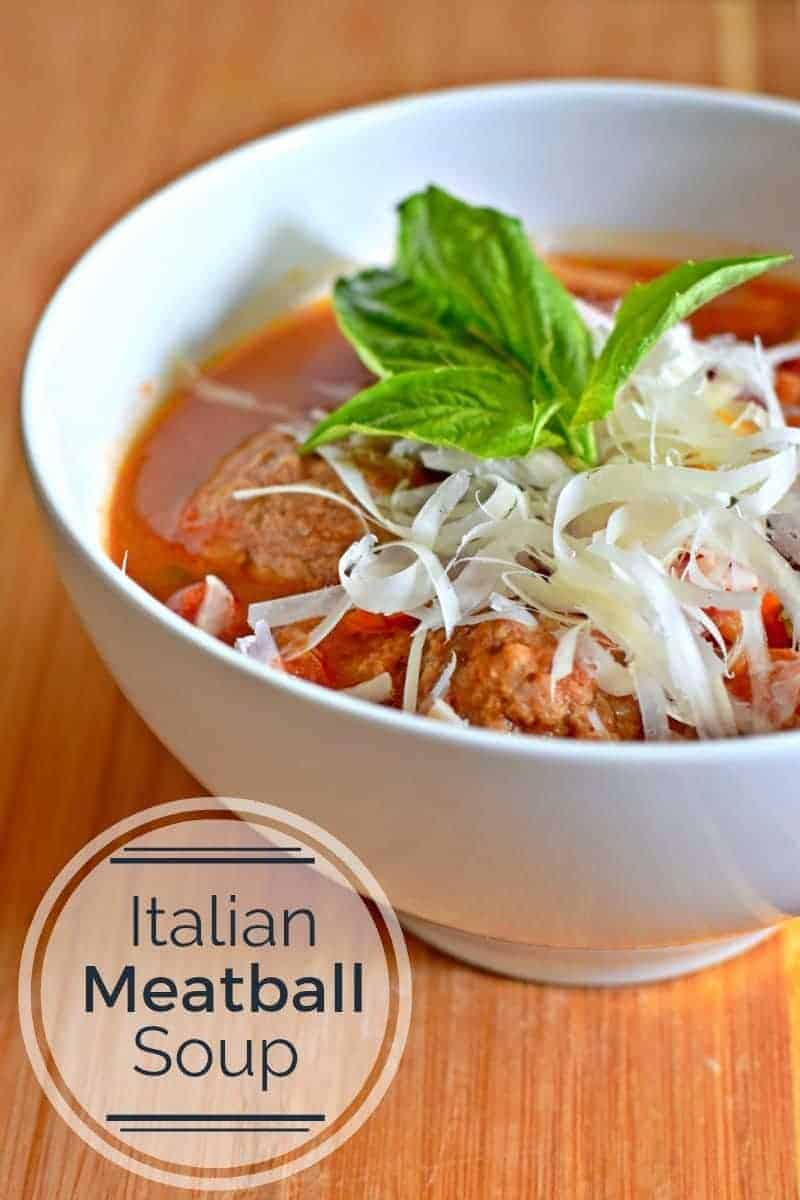 Italian Meatball soup is a perfect weeknight dinner. You cook it in ...