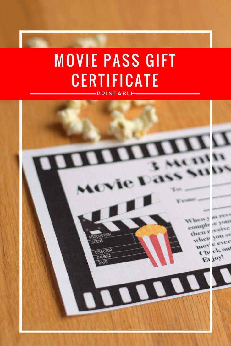 are you giving the gift of movies this year make sure you print your own movie pass gift certificate